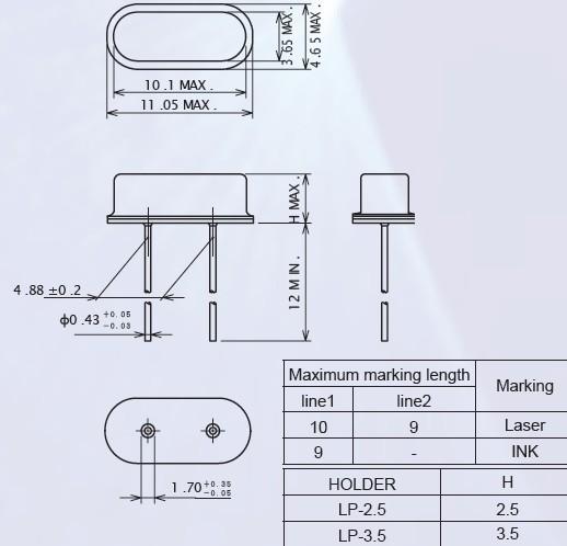 石英晶振,石英振动子-石英晶体谐振器